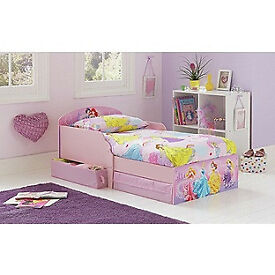 Disney Princess Toddler Bed with Drawers