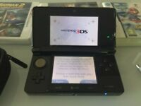Nintendo 3DS Black mint condition + charger + games + cover £100