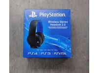 Sony Wireless Stereo Headset 2.0 for PS3 PS4 PS Vita £50