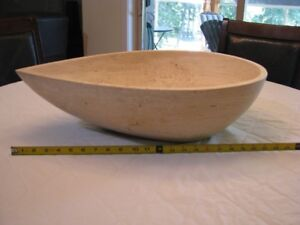 Travertine Teardrop Sink