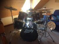 Second hand leedy drum kit