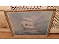 large antique sailing picture