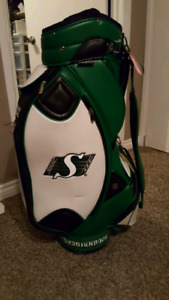 Riders leather golf bag