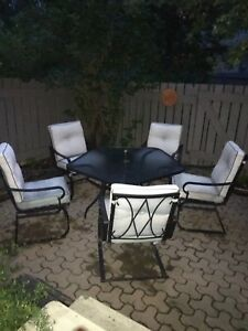 Patio Set with 5 Chairs