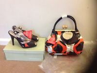 Ladies shoes and bag with tags