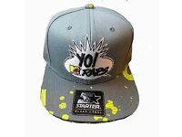 MTV yo raps Starter Snap Back Hat Cap MT-078-GRY-VOL-OS FREE U.K. P And P