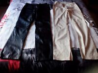 Ladies Guess/Leather Jeans size 10/12