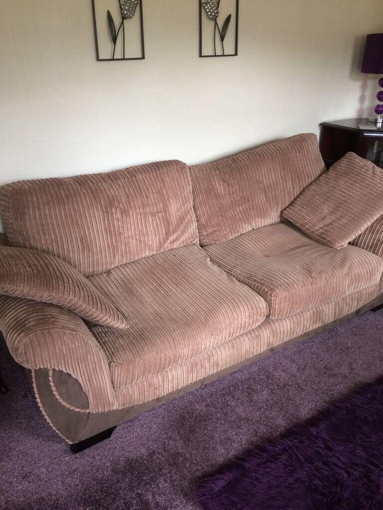 Brown 3 Piece Sofa Set