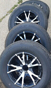 New 205 and 225 75 15 trailer tires on 5 or 6 lug rims