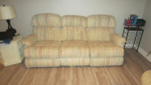 Lazyboy reclining couch and chair