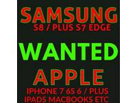 WANTED * IPHONE 7 / PLUS 6S iphone 6 5s SAMSUNG galaxy S8 plus 64gb TAB S