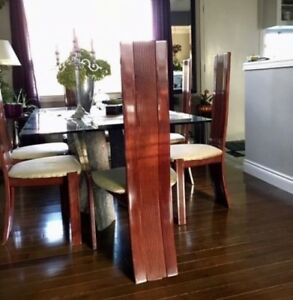 6 Mahogany high back chairs