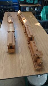 Wooden Train Set - Handcrafted