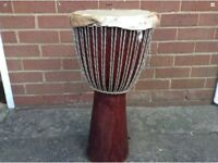 Large African Wooden Tribal Congo Drum