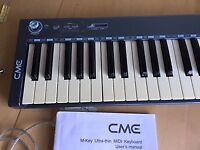 M-Key Ultra-thin MIDI Keyboard