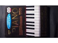 Piano Manual book by Peter Getting, Complete learn to play, 224 pages, 2 x CD brand New