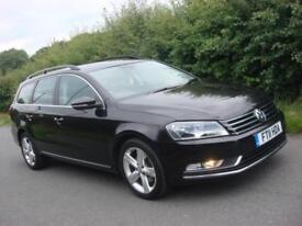 2011 11 PLATE Volkswagen Passat 1.6TDI BlueMotion Tech SE 4dr Estate in Black