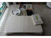 Wii fit + accessories