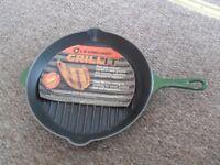 Le Creuset Grillit Frying Pan / Griddle 26 cm Unused