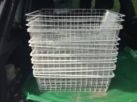 17 metal baskets- possibly from ikea or similar wardrobe system