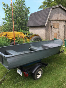 12 foot aluminum boat/trailer