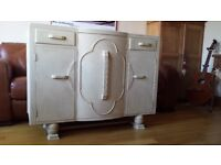 Antique cream up cycled sideboard.