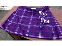 Gents Scottish highland kilt 48 waist with sock flashings