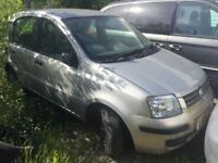 2006 Fiat Panda, being sold as spares or repair, clutch gone, non runner, trade sale, MOT until 30th