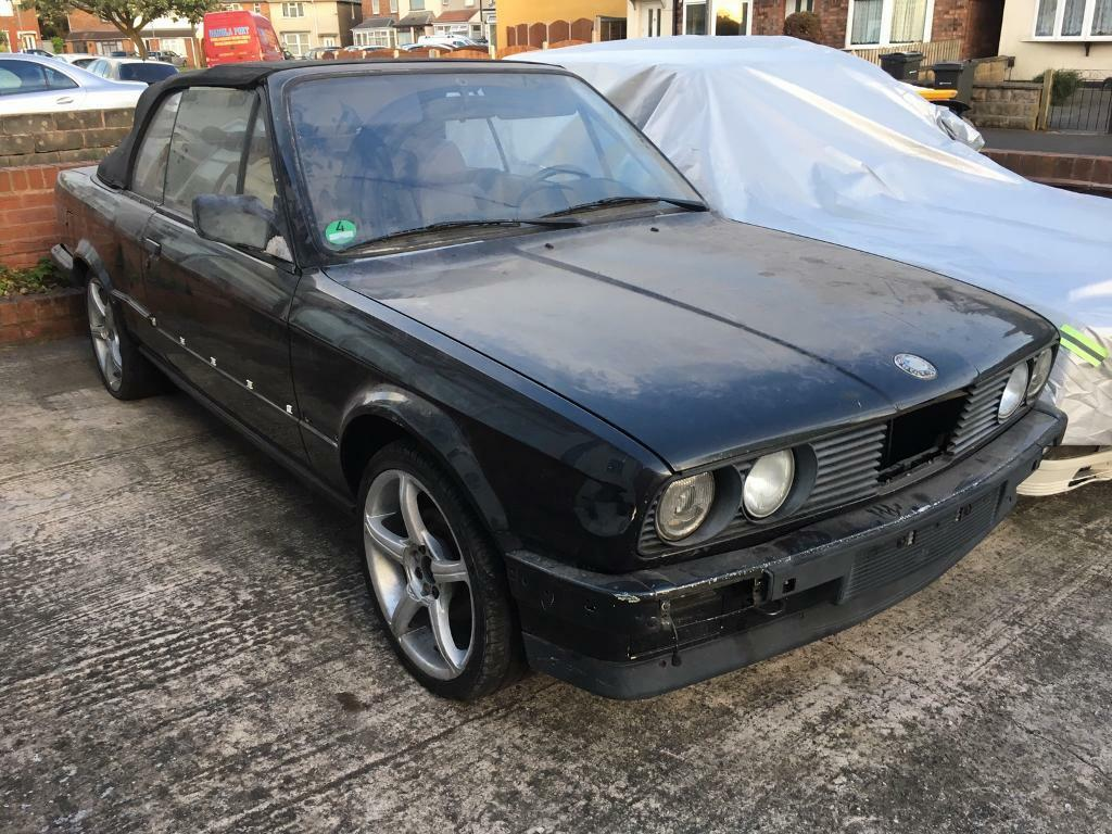 bmw e30 320i convertible left hand drive spares or repairs project m3 m tech in stechford. Black Bedroom Furniture Sets. Home Design Ideas
