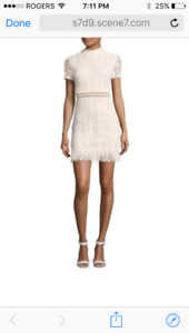 Missguided Lace Bodycon Dress, Cream Colour