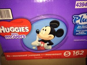 1/2 box of diapers size 5