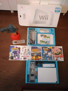 Wii console with 5 games