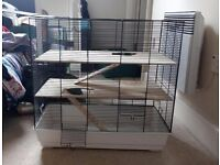 Hamster (or small pet) cage + set up