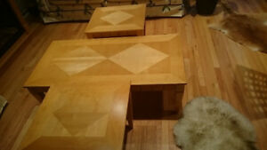 Solid Oak Coffee Table set  (price reduced)
