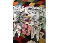 0-3 month boys baby grows