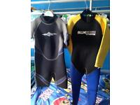2 wetsuits age 5-7