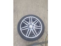 """Audi A3/RS4 18"""" Alloy Wheels With Tyres Genuine X4"""