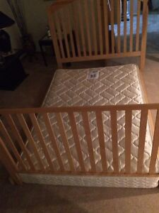 Double size mattress with nice wood frame
