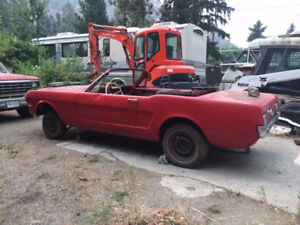 1964 1/2 MUSTANG CONVERTIBLE, F CODE 260 V8, AUTO, BARN FIND