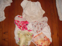 Nature Babies cloth nappy wraps, girly prints, flowers etc. x 7