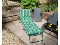 *SOLD* 2 Sun Loungers plus heavily padded cushions