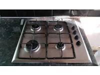 Gas hob proline in working condition with gas connection hose