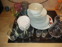 selling plates + glasses + jug - 30 pieces