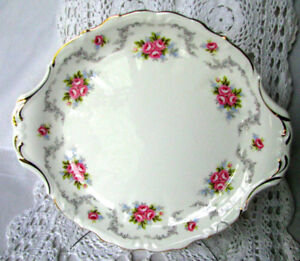 Royal Albert TRANQUILLITY Cake Serving Plate 9.25 x 10.5 England