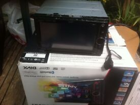 JVC KW V20BT car entertainment system.