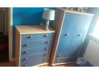 matching wardrobe and chest of drawers and single bed for kids £120 ono