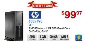 ►►Deal of the Week:   HP Compaq 6005 Pro Phenom II X4 B95 3.0GHz