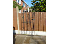 "Metal Garden Gate With Fittings Hight 76.5"" x 31.5"" Wide. In Good Condition."