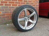 18 inch Staggered & Concaved Bmw Jade R Alloy Wheels & Tyres (e36 e46 330 Mv2 M3 e60 e90)