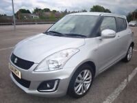 2014 (14) SUZUKI SWIFT 1.3 DDIS DIESEL SZ4 (TOP SPEC) 5 DOOR HATCH SILVER £20 ROAD TAX